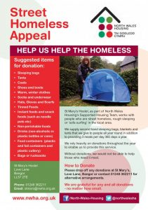 Homeless donations poster